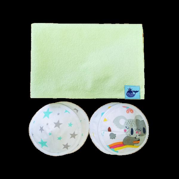 Komplekts DupšVēdiņš 60x90 + krūšturu ieliktņi (2 pāri)